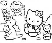 dessin hello kitty 243 dessin à colorier