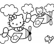 dessin hello kitty 77 dessin à colorier