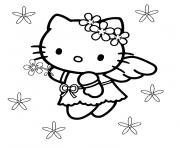Coloriage coeur hello kitty dessin