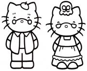 Coloriage dessin hello kitty 72