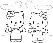 dessin hello kitty 119 dessin à colorier