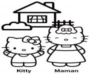 Coloriage dessin hello kitty 1 dessin