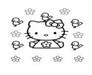 Coloriage dessin hello kitty 81