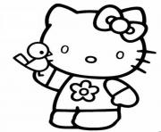 dessin hello kitty 198 dessin à colorier
