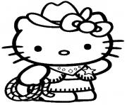 Coloriage dessin hello kitty 98