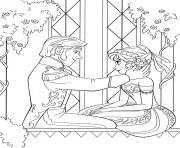 dessin reine neige disney anna hans dessin à colorier