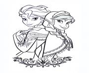 Coloriage dessin la reine des neiges disney princesse