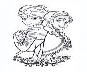 dessin la reine des neiges disney princesse dessin à colorier