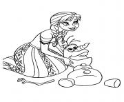 Coloriage anna confie un secret a elsa reine des neiges dessin