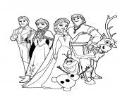reine neige disney cast dessin à colorier