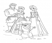 Coloriage halloween la reine des neiges dessin