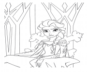 Coloriage reine des neiges elsa frustre disney