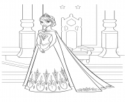 reine des neiges elsa disney dessin à colorier