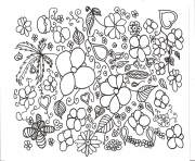 Coloriage zen antistress abstract pattern flowers by juliasnegireva dessin