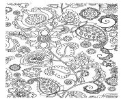 Coloriage dessin adulte antistress inspiration zen 99