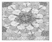 Coloriage mandala pattern adulte anti stress dessin