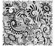 Coloriage mandala chat difficile adulte dessin
