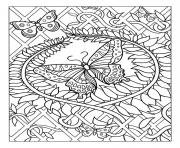 Coloriage difficile adulte papillon