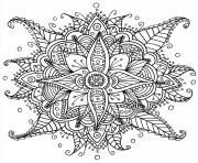 Coloriage difficile mandala adulte
