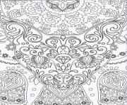 Coloriage dessin chat mandala adulte difficile