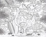 Coloriage difficle ver de jus citron adulte