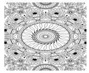 Coloriage superbe difficile adulte mandala dessin