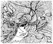 Coloriage difficile peroquet adulte dessin