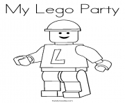 Coloriage my lego party