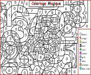 magique chiffres maternelle dessin à colorier
