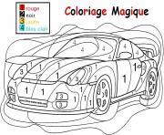 magique voiture de course facile simple maternelle dessin à colorier