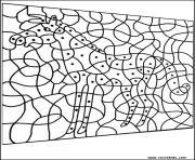 magique cheval facile maternelle dessin à colorier