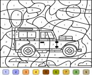 magique voiture 4x4 jeep dessin à colorier