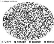 magique 18 dessin à colorier