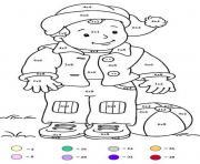 magique 146 dessin à colorier