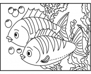 poisson 192 dessin à colorier