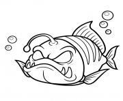 poisson lanterne dessin à colorier