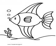 poisson 223 dessin à colorier