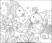 poisson 290 dessin à colorier