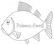 poisson davril 144 dessin à colorier