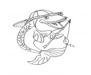 Coloriage poisson carpe