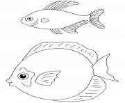 poisson davril 121 dessin à colorier