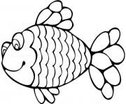 Coloriage simple poisson avril