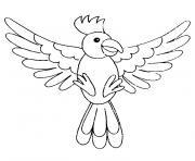 un oiseau dessin à colorier