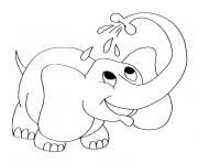elephanteau dessin à colorier