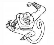 kung fu panda maitre singe dessin à colorier