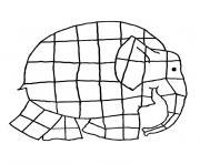 elephant elmer dessin à colorier