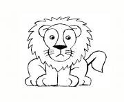 Coloriage lion rigolo