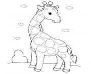 Coloriage pet shop girafe