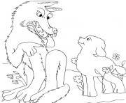 loup et agneau dessin à colorier