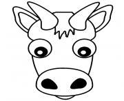 tete de vache dessin à colorier